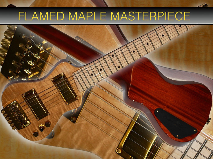 EXC-MH Custom Flamed Maple Gold #C10