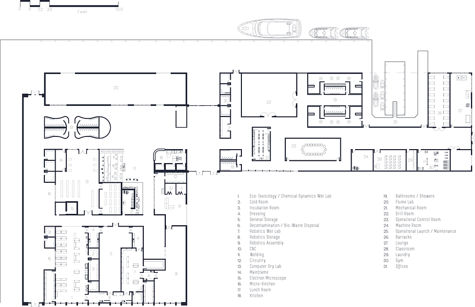 Sault Ste Marie Oil Spill Research Lab Floor Plan