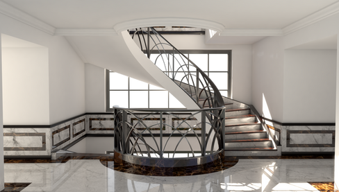 Marble Stair Case Concept Render