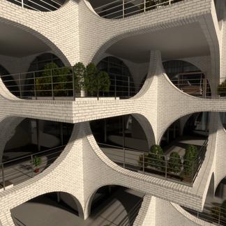 Apartment Building Concept Render