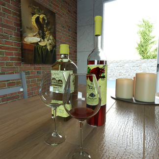 Wine Glasses Render