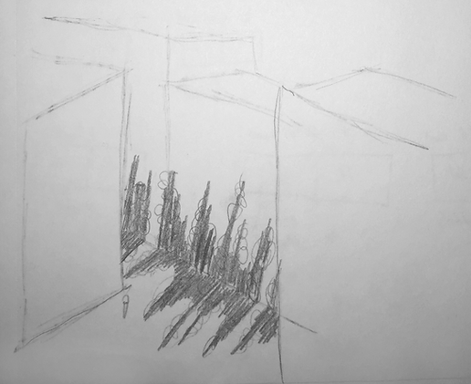 Initial concept sketch Alley