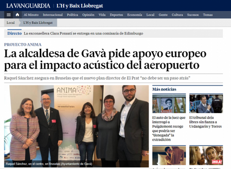 La Vanguardia: Gavà mayor asks for European support for the acoustic impact of the airport