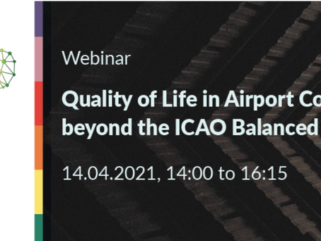 WEBINAR: Quality of Life in Airport Communities beyond the ICAO Balanced Approach