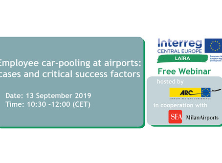 LAirA Interreg CE Project - Employee Car-Pooling At Airports: Cases And Critical Success Factors