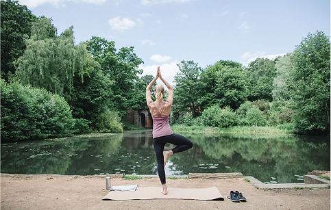 2B. Yoga mat by lake.JPG