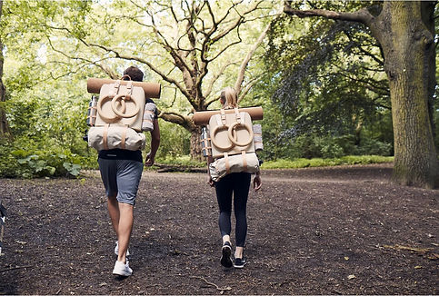6A. Walking with backpacks (wood).JPG