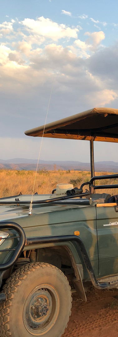 The game drive vehicle our teams get to ride in to our projects and on safari