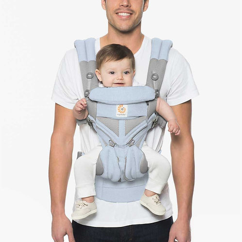 HIRE Ergobaby Omni 360 Cool Air Mesh Carrier - Light Chambray Blue