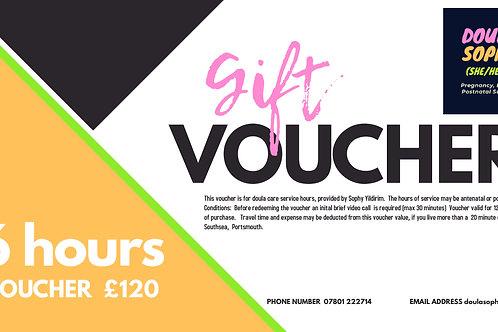 Gift Voucher 6 Hours - £120