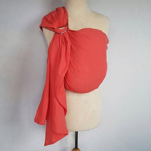 HIRE Melliapis Muslin Ring Sling - Coral