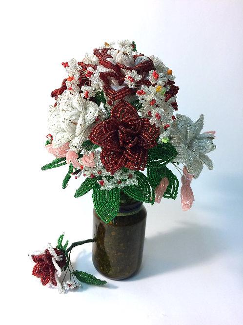 AP0423  Brautstrauss aus 7 Rosen