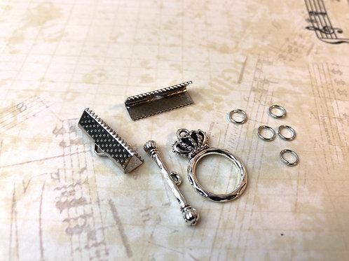 APz01 Zubehör für Armband (silber flach)