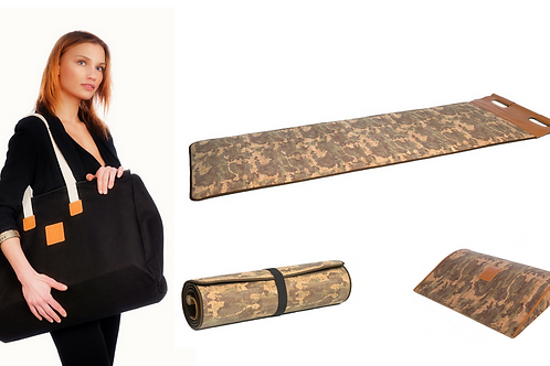 Pack Cork fitness mat camouflage by CUATROFITNESS