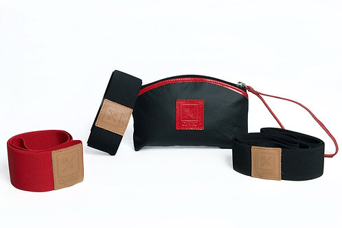 Elastic resistance bands (CUATROBANDS leather) by CUATROFITNESS