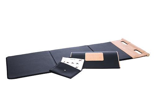 Customised leather fitness mat by CUATROFITNESS