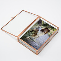 Rose Gold Copper Glass Photo Box Thor.jp