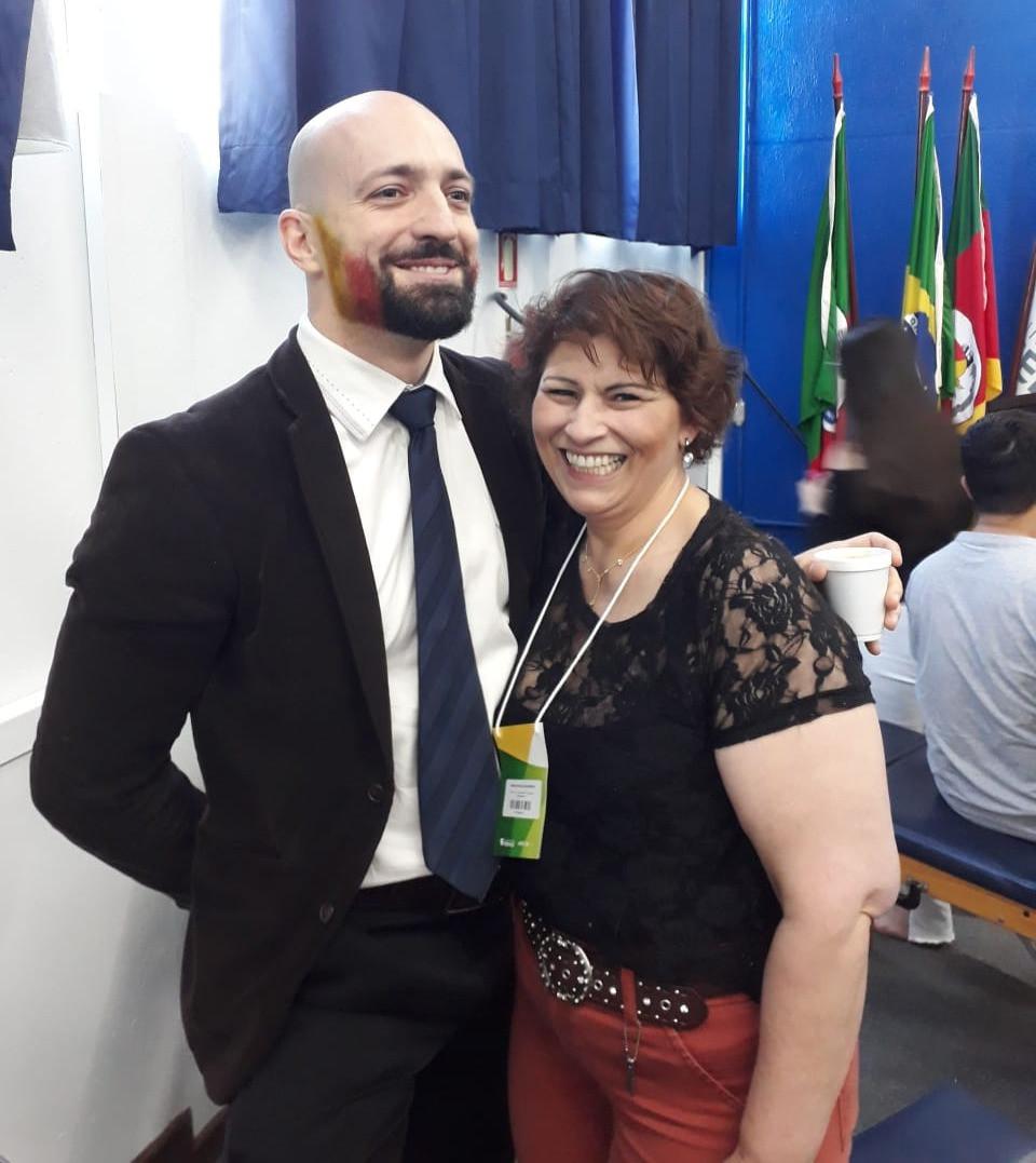 Com o professor Daniel Fachinni