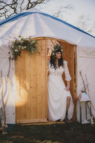 Yorkshire Bride in 18ft Yurt