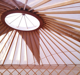18ft yurt roof with centre circle