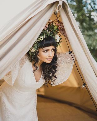 Bride in Honeymoon Bell Tent