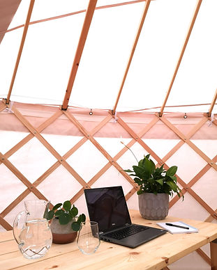 Sustainable corporate event in a yurt