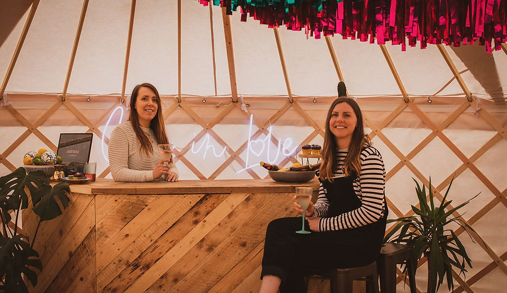 Becca and Charlotte from North Sky Yurts