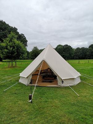 5 metre honeymoon bell tent in Yorkshire