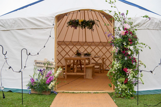 24ft yurt for hire in Yorkshire