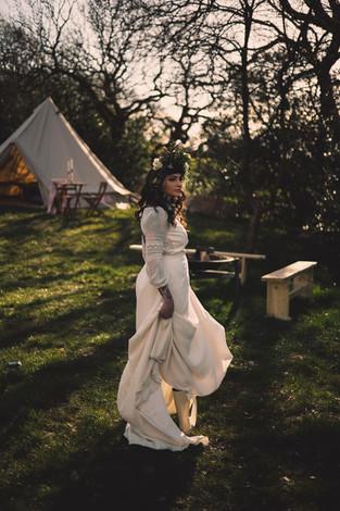 Bride with Honeymoon Bell Tent