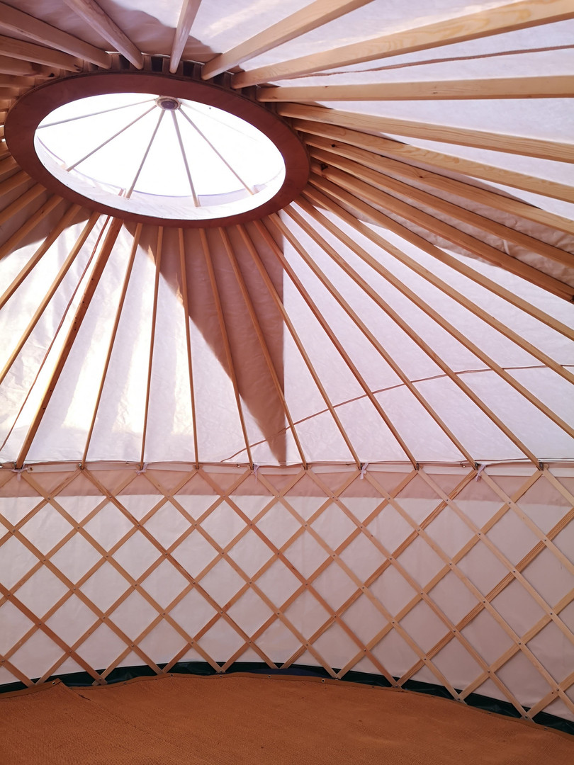 18ft Yurt for hire Yorkshire