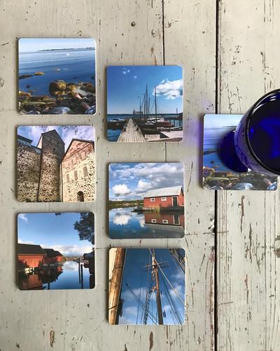 Glasunderlägg från Åland!