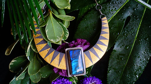 Enchanted Forest Necklace with Labradorite