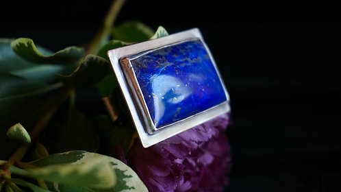 Strata Ring with Lapis