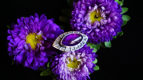 Protective Eye Ring with Amethyst