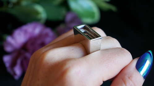 Perspective Ring in Silver
