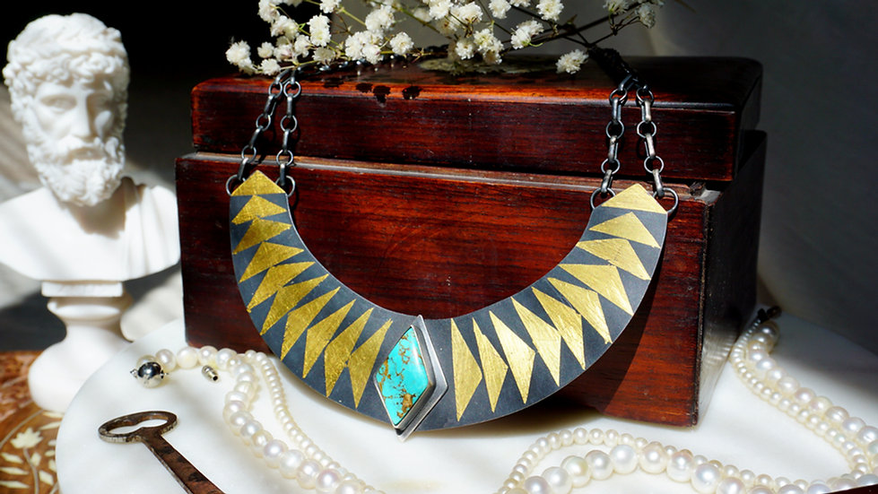 Luxor Necklace with Turquoise