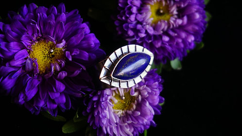Protective Eye Ring with Lapis