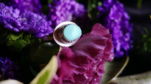 Strata Ring with Royston Turquoise