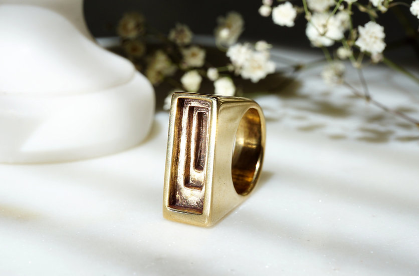 Temple Ring in Bronze