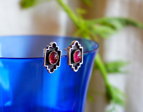 Basilica Earring with Tourmaline