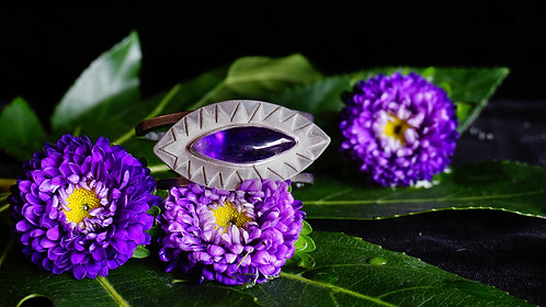 Protective Eye Cuff with Amethyst
