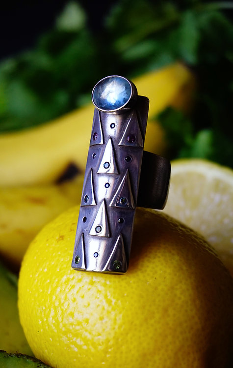 Enchanted Forest Ring with Aquamarine