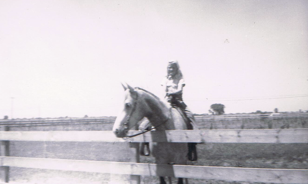 Proud Cowgirl - Renee Cantrell & Sheba 1st horse she ever showed 1961_edited