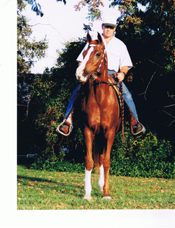 Dazzle Me (Ben Rabba x Khazmir) foaled 1986 & Greg Cantrell