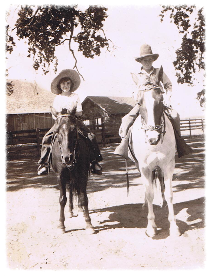 Jewell & her friend Rusty Ford 1937
