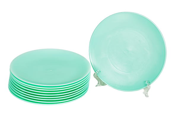 Round Plastic Plate Mint