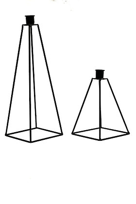 Small Black Pyramid Candle Holder
