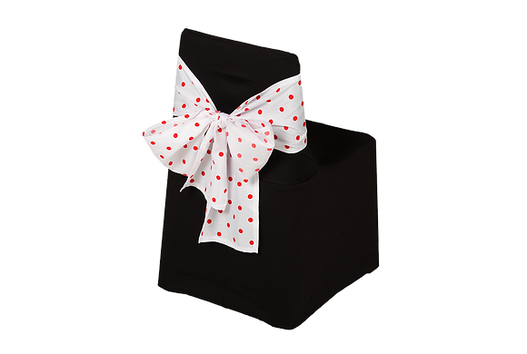 Kiddies Tieback Red Polka Dot