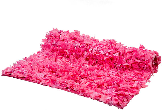 Kiddies Pink Shaggy Carpet